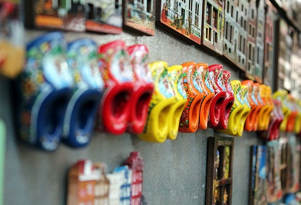 Wooden Shoes Colorful Interesting Holland Amsterdam Shoes Wood