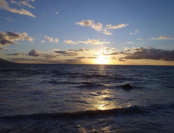 Maui Vacation Travel Sunset Sundown Hawaii Ocean M