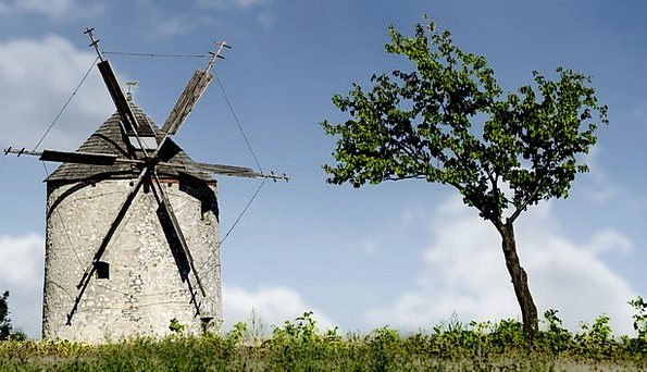 Windmill Buildings Grinder Architecture Old Windmi