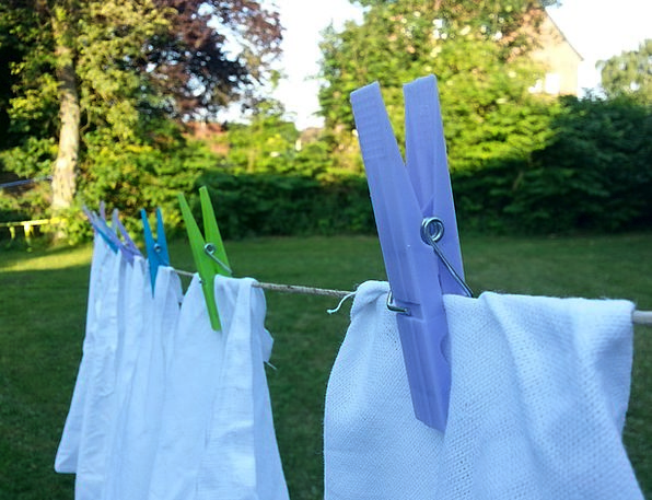 Laundry Washing Clothes Line Clothespins Dry Thirs