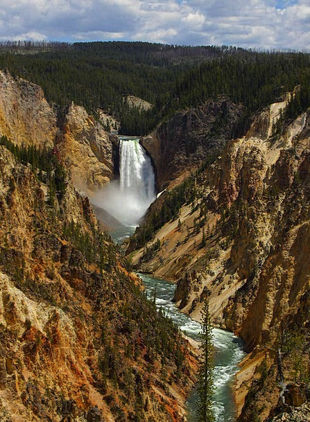 Lower Falls Landscapes Cascade Nature Valley Vale