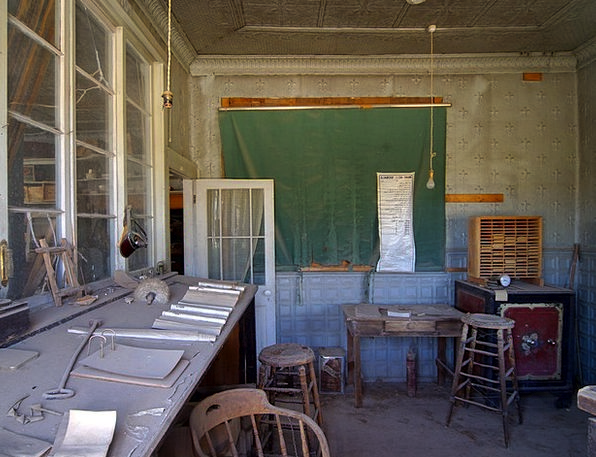 Classroom Schoolroom Bodie Ghost Town Wild West Us