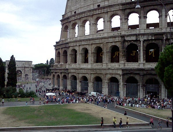 Rome Italy Colosseum Ancient Antique Roman Coliseu