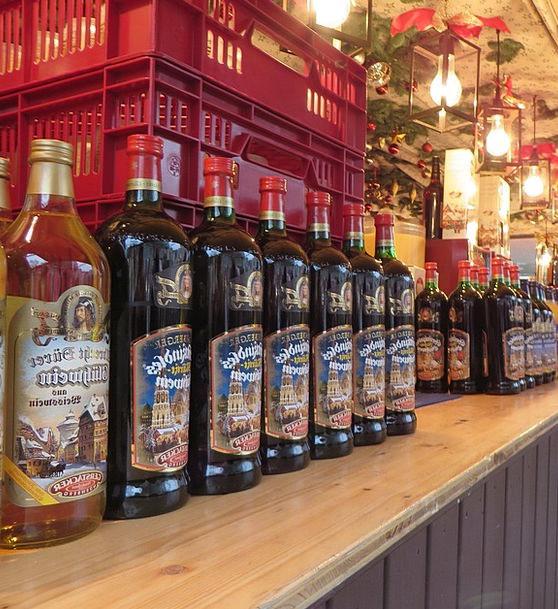 Mulled Wine Bottles Flasks Christmas Market Nuremb