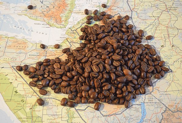 Coffee Chocolate Chart Ethiopia Map Beans Africa S