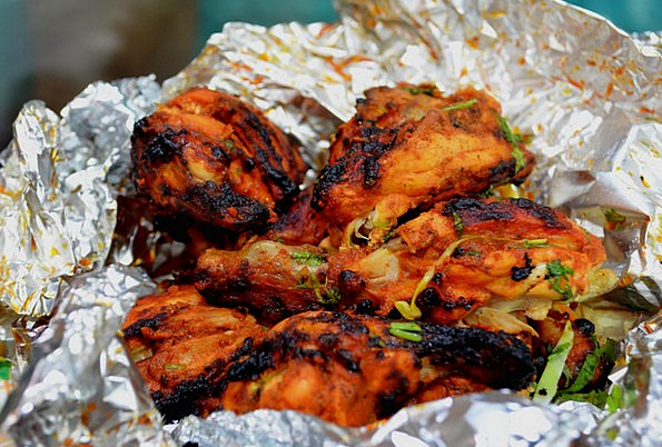 Chicken Cowardly Baked Indian Roasted Fast Food Tasty Bbq