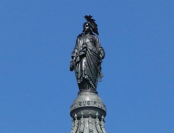 Statue Figurine Washington Usa E Pluribus Unum Uni
