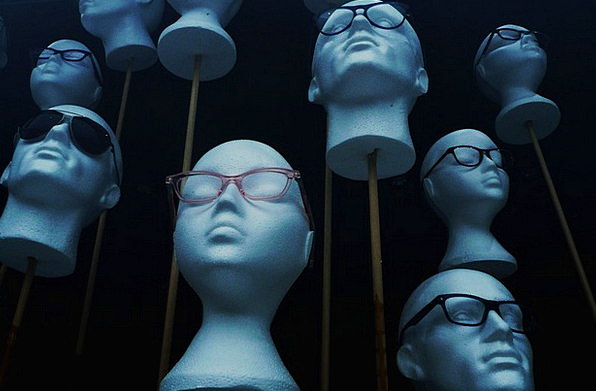 Styrofoam Fashion Skull Beauty Glasses Spectacles
