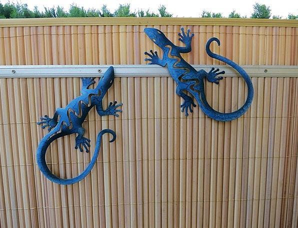 Garden Decoration Lizards Garden Fence Garden Plot