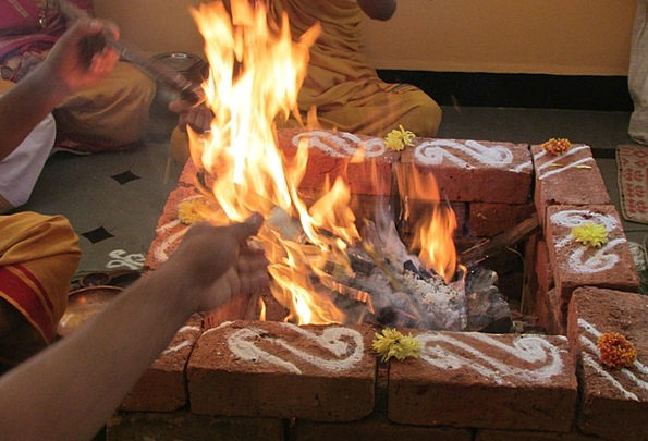 Performing Rituals India Dharwad Light Fire Passio