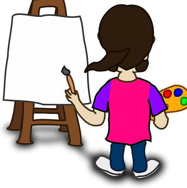 Painting Image Painter Child Youngster Artist Pink