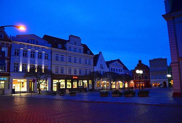 Market Mecklenburg Güstrow Night Nightly Marketpla