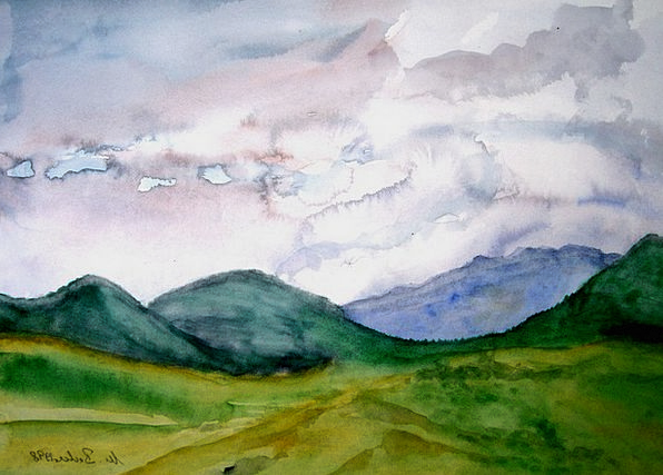 Mountains Crags Craft Industry Image Copy Painting