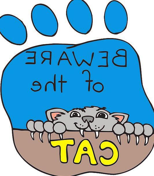 Cat Feline Pattern Paw Hand Print Pet Domesticated