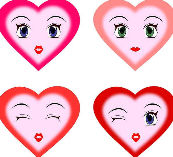 Hearts Expressions Languages Faces Darker Emotions