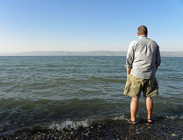 Man Gentleman Galilee Israel Lake Tourism Sea East