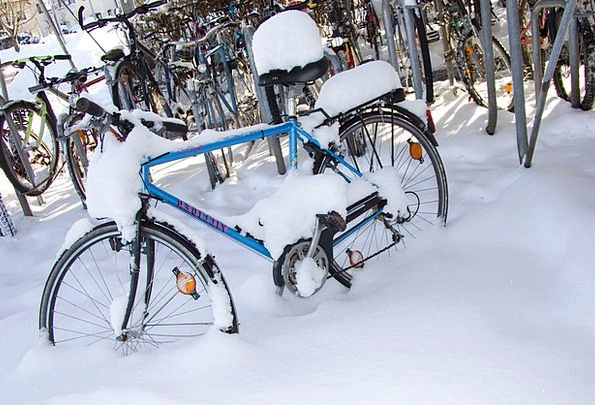 Winter Season Motorbike Snowed In Snowbound Bike S