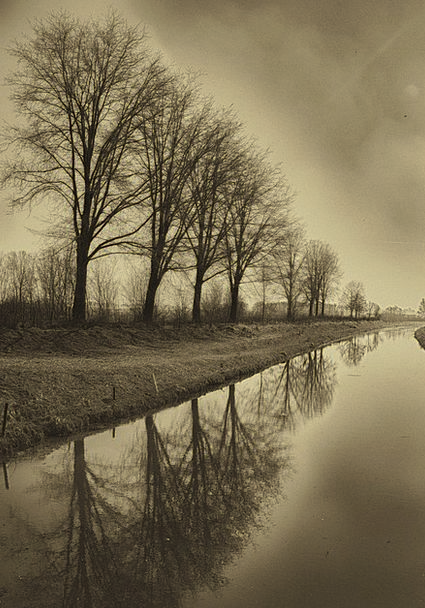 Channel Station Plantains Sepia River Stream Flow