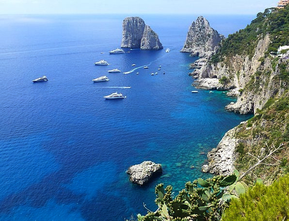 Capri Maritime Cliffs Precipices Marine