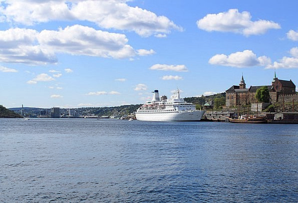 Oslo Port Harbor Norway Ship Vessel Oslofjord Aker