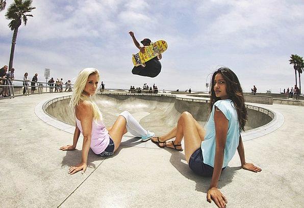 Skateboard Skater Skate Park Boy Lad Cool Half-Pip