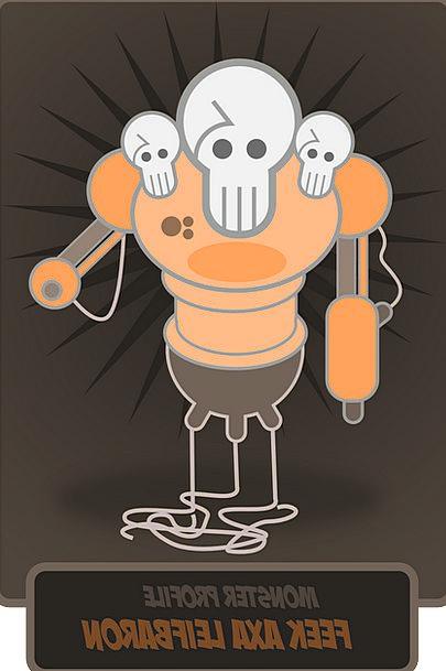 Skulls Minds Automaton Monster Huge Robot Free Vec