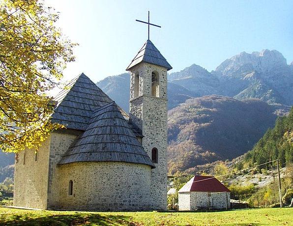 Theth Ecclesiastical Albania Church Catholic Wide-