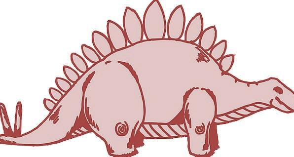 Stegosaurus Landscapes Relic Nature Reptile Dinosa
