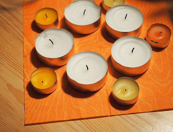 Tea Lights Tapers Wax Candle Candles Christmas Tim