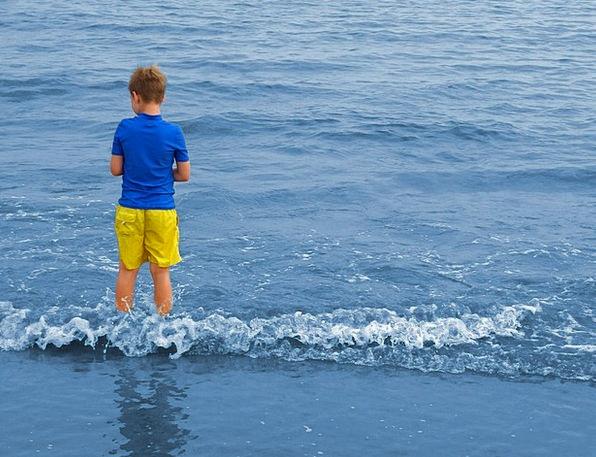 Boy Lad Marine Wave Upsurge Sea Swim Water Aquatic