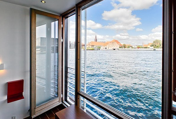 Copenhagen Port Harbor Houseboat Water Aquatic Blu