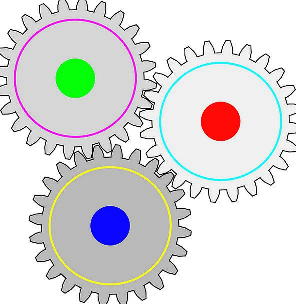 Gears Mechanisms Craft Industry Connected Linked C