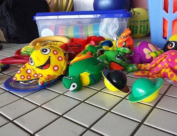 Swim Dip Faunae Children Broods Animals Fun Bathin