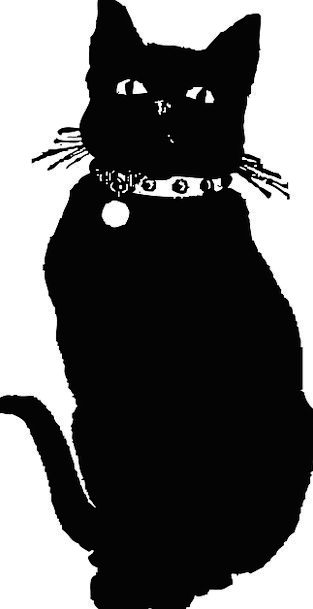 Cat Outline Whiskers Sideburns Silhouette Bell Chu