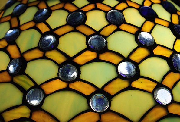 Lampshade Shade Colorful Interesting Tiffany Glass