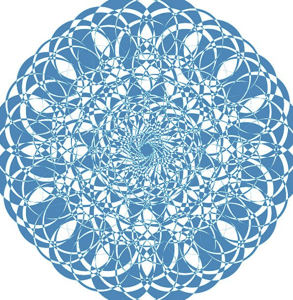 Mandala Blue Lace Blue Doily Circle Ring Lacy Croc