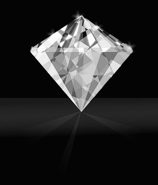 Diamond Rhombus Jewel White Snowy Gem Brilliant Cl