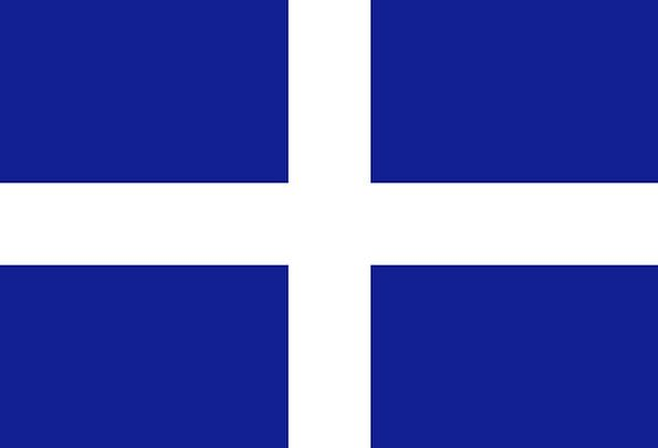 Greece Standard Greek Flag State Flag On Land White Old Symbol Fields Ancient Blue Pixcove