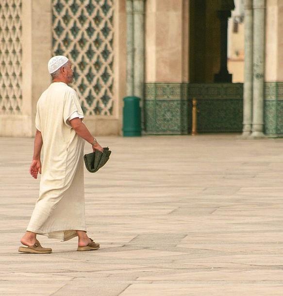 Morocco Mosque Casablanca Man Gentleman Prayer Isl