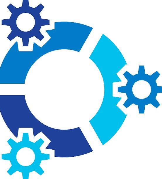 Operating System Kubuntu Linux Gear Logo Symbol Co