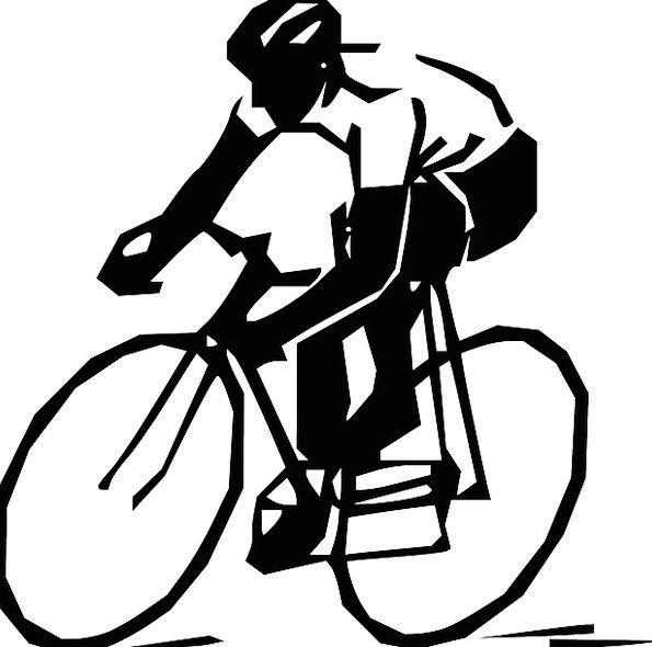 Man Gentleman Bicycle Bike Ricing Active Black Dar