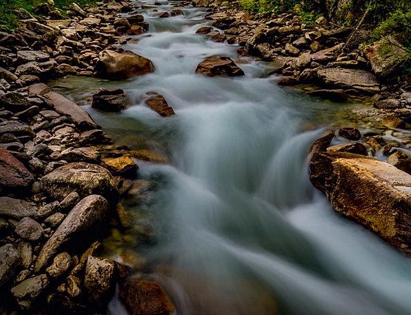 Krimml Waterfalls Landscapes Nature Stones Gravels