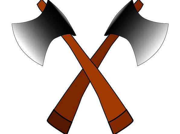 Axe Knife Gears Sharp Shrill Tools Steel Two Binar