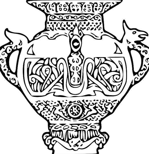 Vase Decorative Ornamental Urn Free Vector Graphic