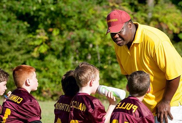 Coach Flag Football Trainer Match Football Ball Wi