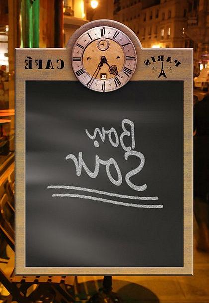 Menu Bowl Blackboard Board Plate Own Label Clock T
