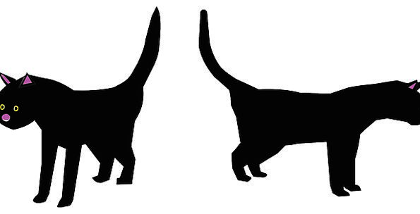 Cats Felines Dark Pair Couple Black Free Vector Gr