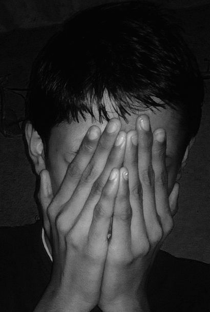 Sad Unhappy Dim Afraid Dark Serious Hiding Beating