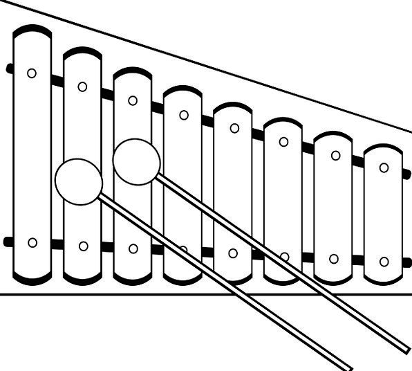 Line Art Xylophone : Clipart xylophone in black and white jaxstorm realverse