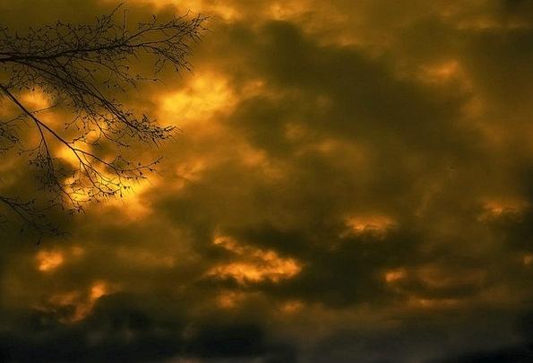 Sky Blue Evening Sky Abendstimmung Romance Latin-b